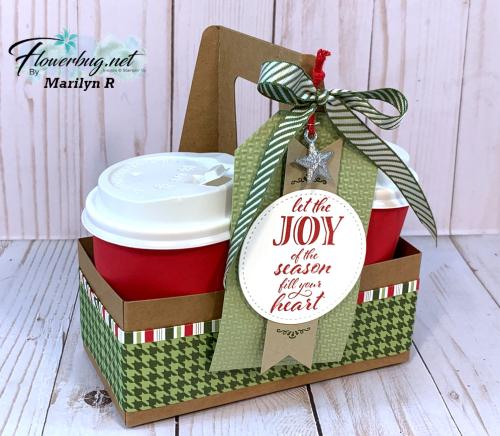 Mini coffee carrier. 1