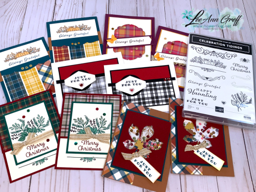Oct Plaid Tidings with set