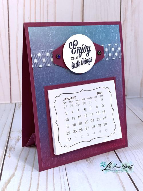 Dec Easel Calendar Artistry
