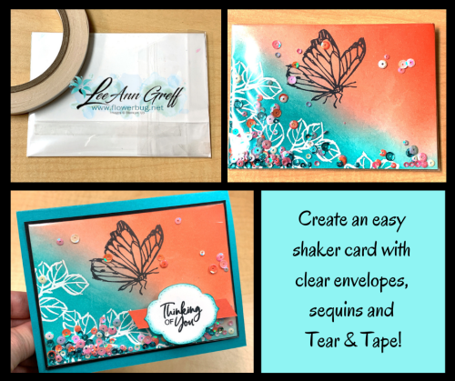 Touch of Ink Shaker card