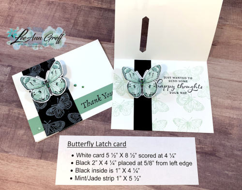 Butterfly Bouquet Latch card.