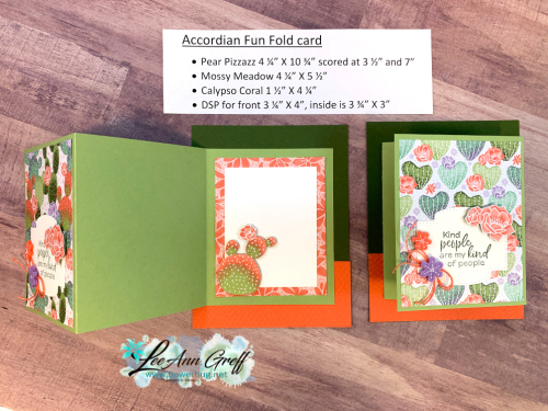 Flowering Cactus Accordion cards