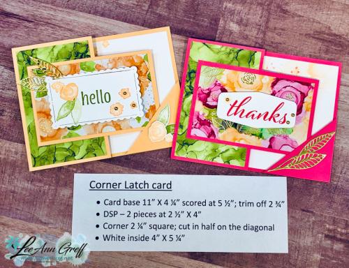Corner Latch card Expressions in Ink