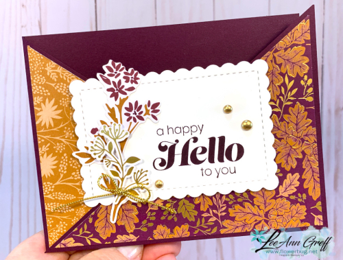 Blackberry Beauty diagonal card. .