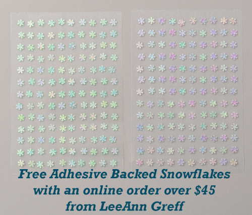 Adhesive backed snowflakes