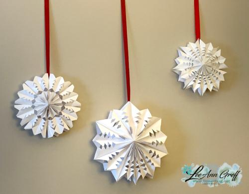Snowflakes paper bags