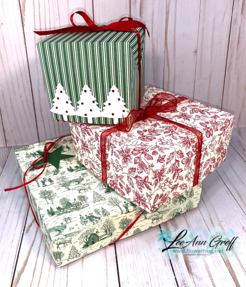 Toile Tidings boxes