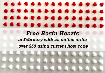 Free Resin Hearts Feb
