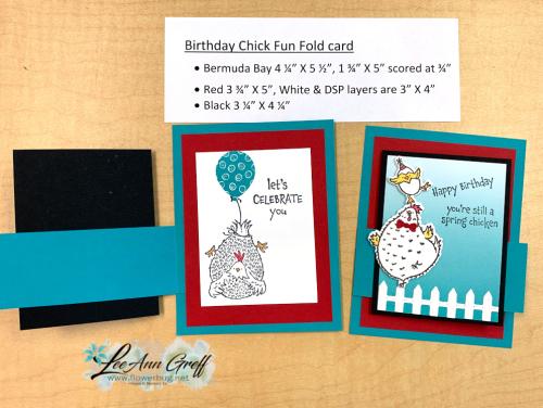 Hey Chick fun fold card