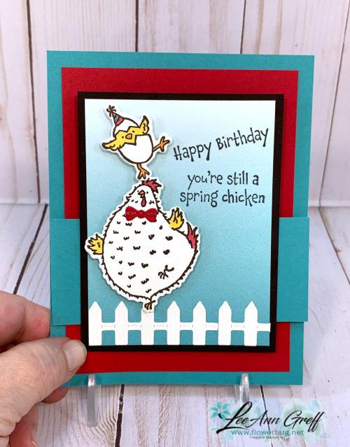 Hey Birthday Chick fun fold