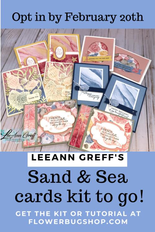 Sand & Sea Cards kit to go