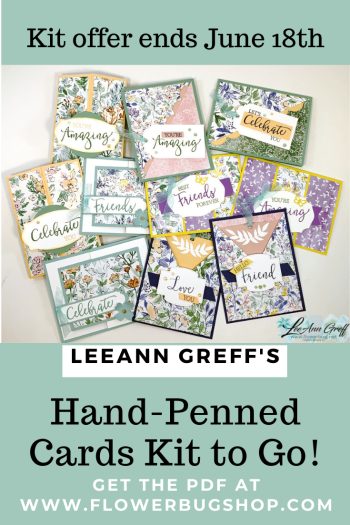 Hand penned card kit