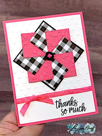 Pinwheel card Polished Pink