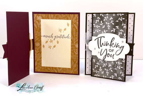 Center Flap cards Beautifully Penned & Blackberry Beauty