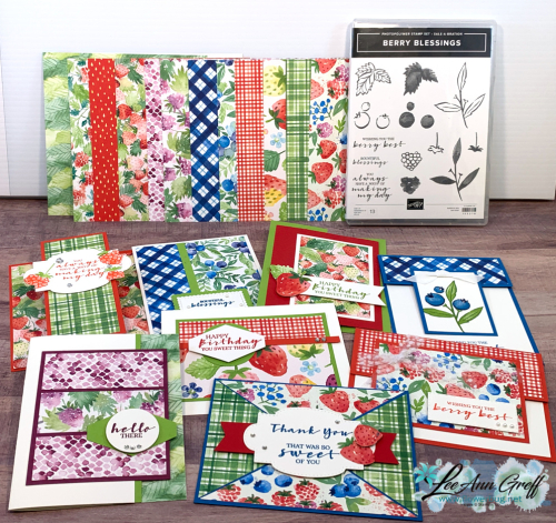 Berry cards kit with set