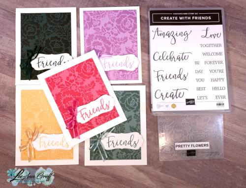 Pretty Embossing folder inked Pink