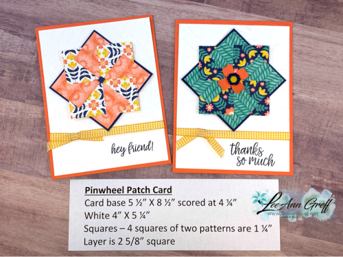 Pinwheel cards In Symmetry