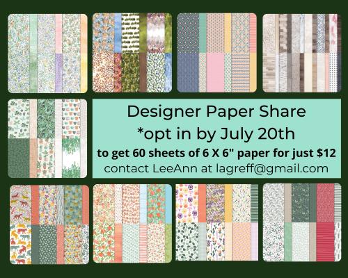 Designer Paper Share July