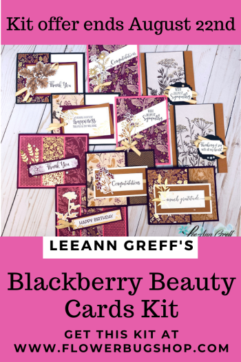 Blackberry Beauty Cards kit to go