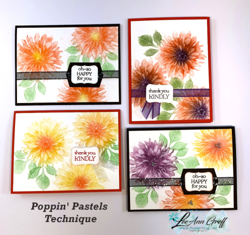 Delicate Dahlias poppin Pastels