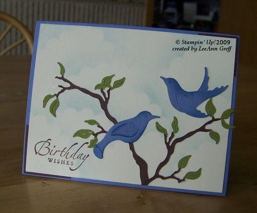 Big Shot bird & branches card